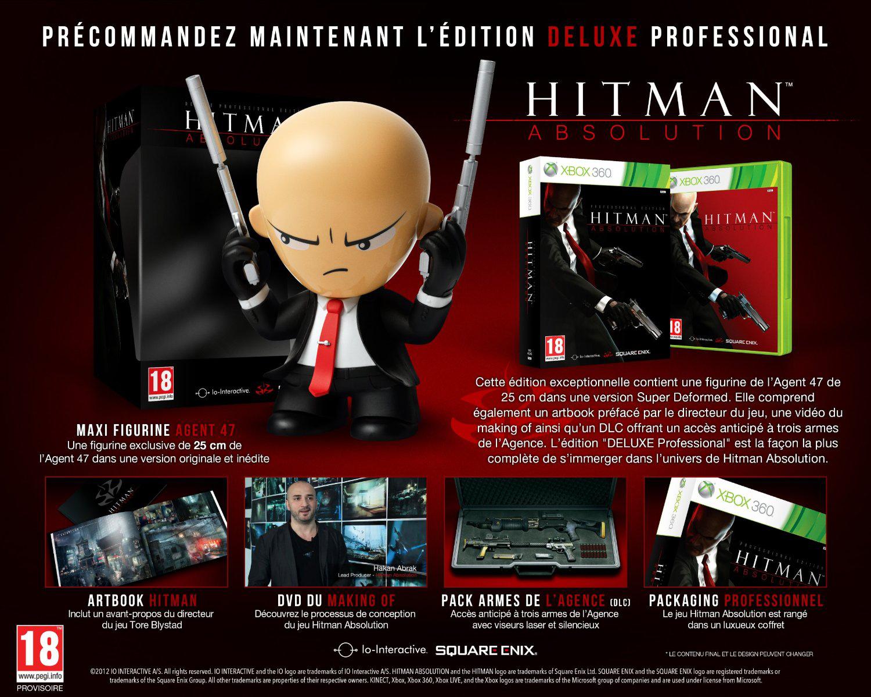 Hitman Absolution Edition Professionnelle Deluxe sur XBOX 360 (Avec une figurine vinyle 25 cm)