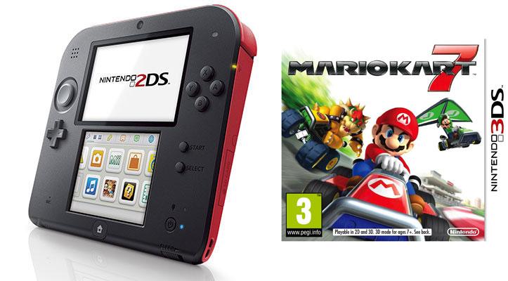 Console Nintendo 2DS + Mario Kart 7