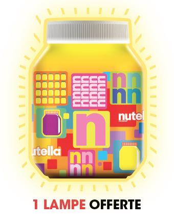 Lampe Nutella offerte pour l'achat de 2 pots de Nutella 950g (ou un pot et double pack de B-ready)