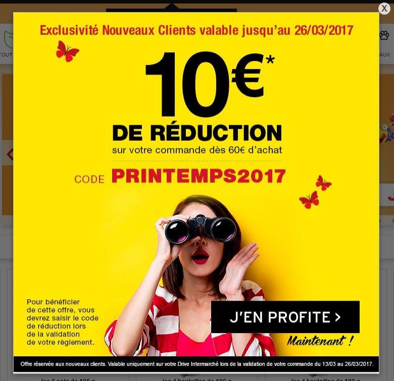 [Nouveaux Clients] 10€ de réduction à partir de 60€ d'achat