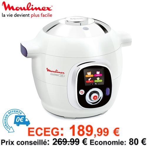 Multicuiseur vapeur 6L Moulinex Cookeo USB CE7021