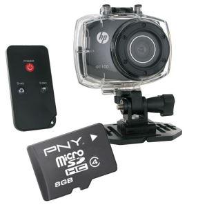 Caméra sport HP AC-100 + Carte MicroSD 8Go