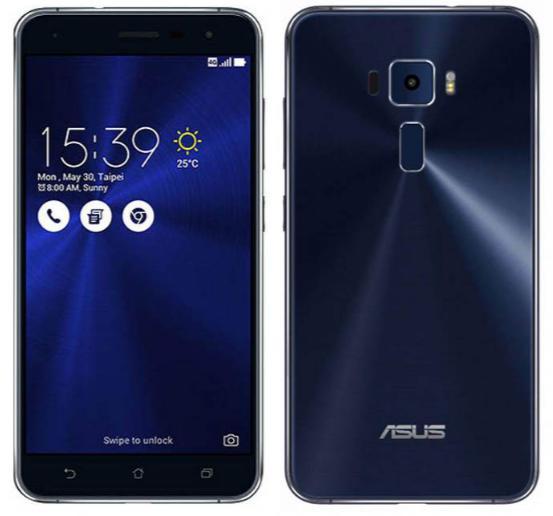 """Smartphone 5.2"""" Asus Zenfone 3 ZE520KL - 3 Go RAM,  32 Go ROM, Double SIM  (coloris au choix)"""