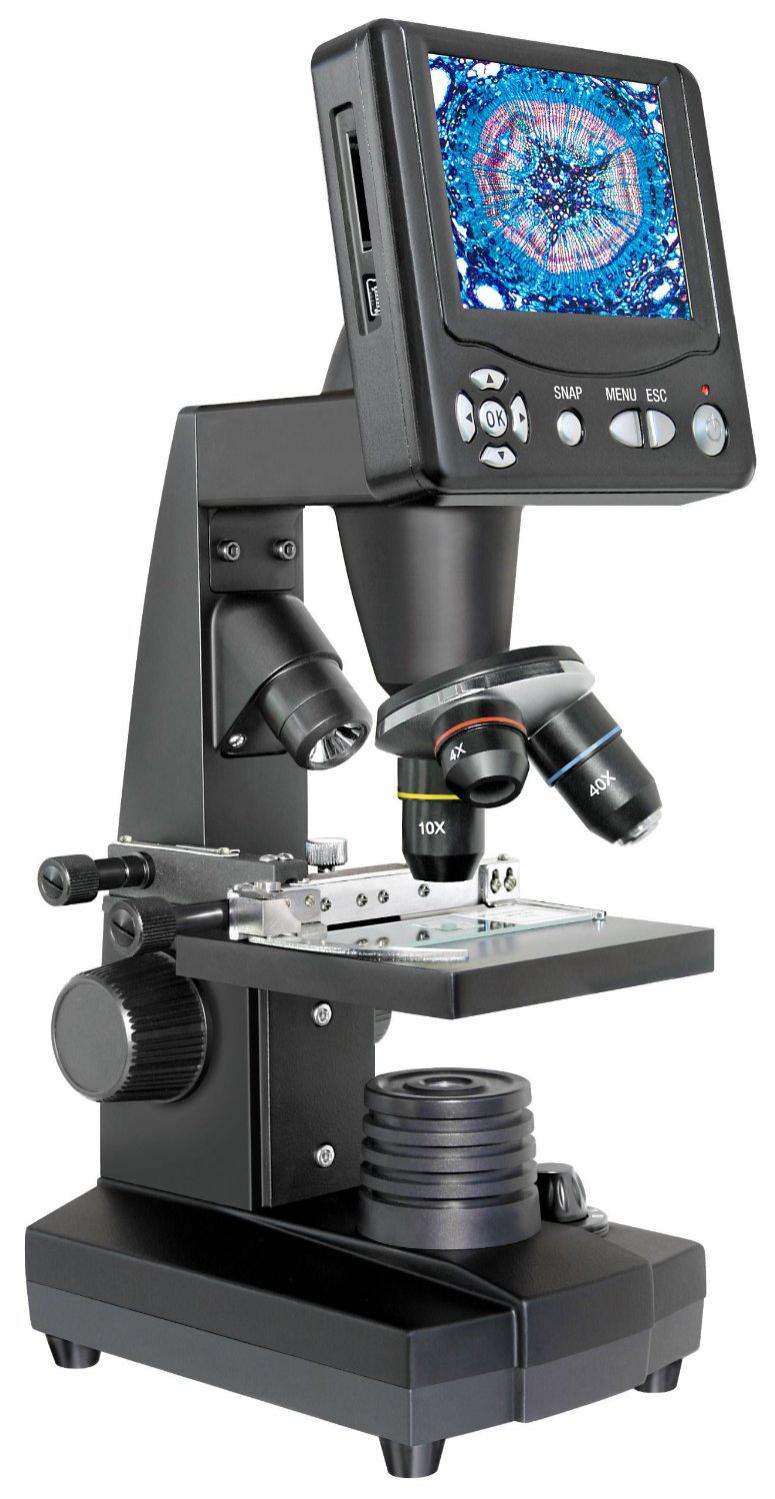"""Microscope Bresser à écran LCD 8.9cm (3.5"""") avec grossissement optique 40x et Photo 2MP"""
