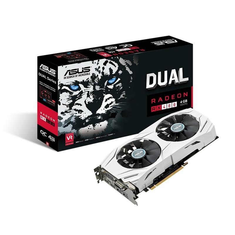 Carte graphique AMD Asus DUAL RX 480 - 4 Go DDR5