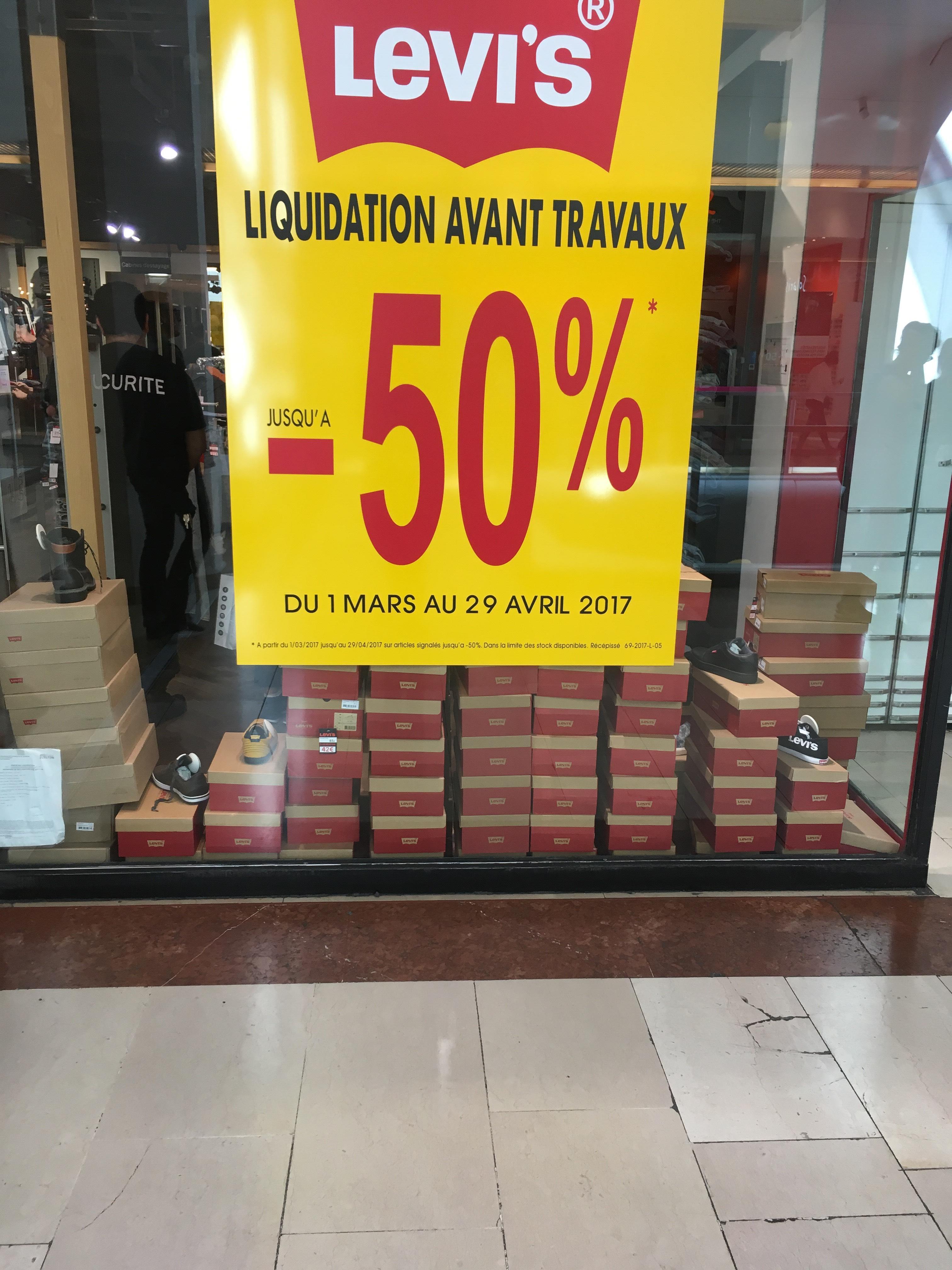 Jusqu'à  50% de réduction sur tout le magasin - Ex : Jeans Levi's 510