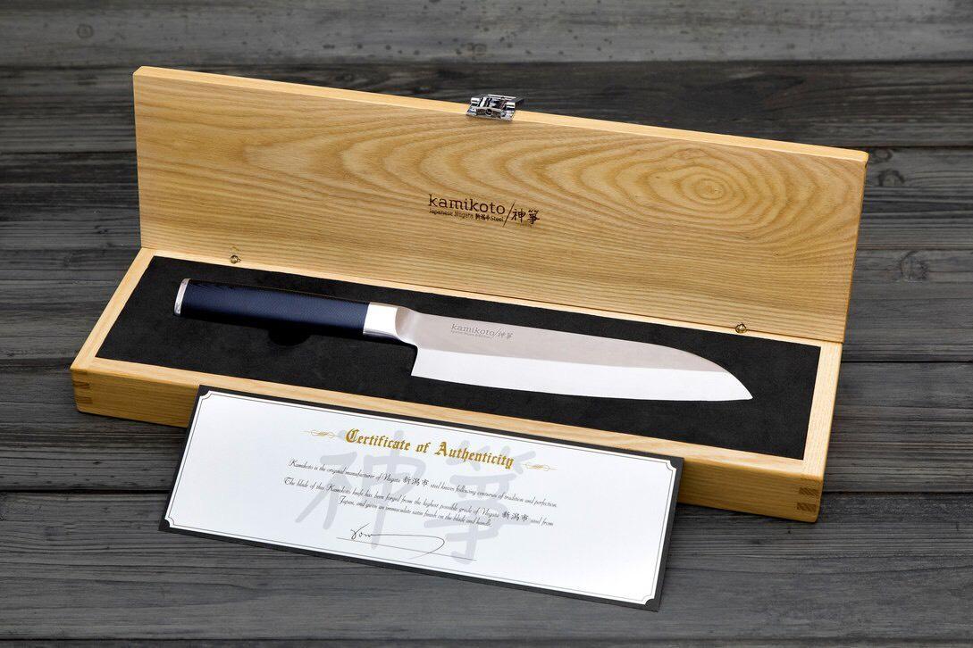 """Couteau chinois 7"""" Kamikoto Santoku"""