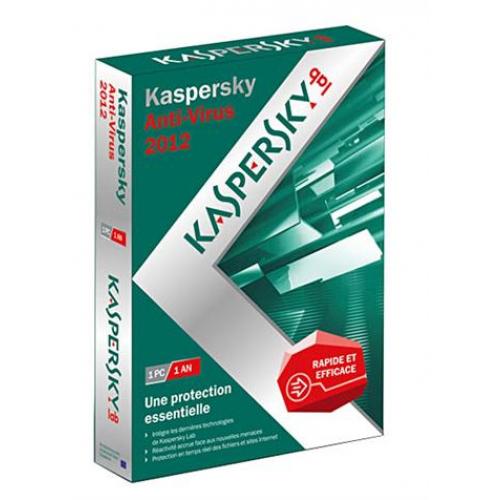 Antivirus Kaspersky 2012 (Maj vers 2014 gratuite) - 1 an / 1 poste