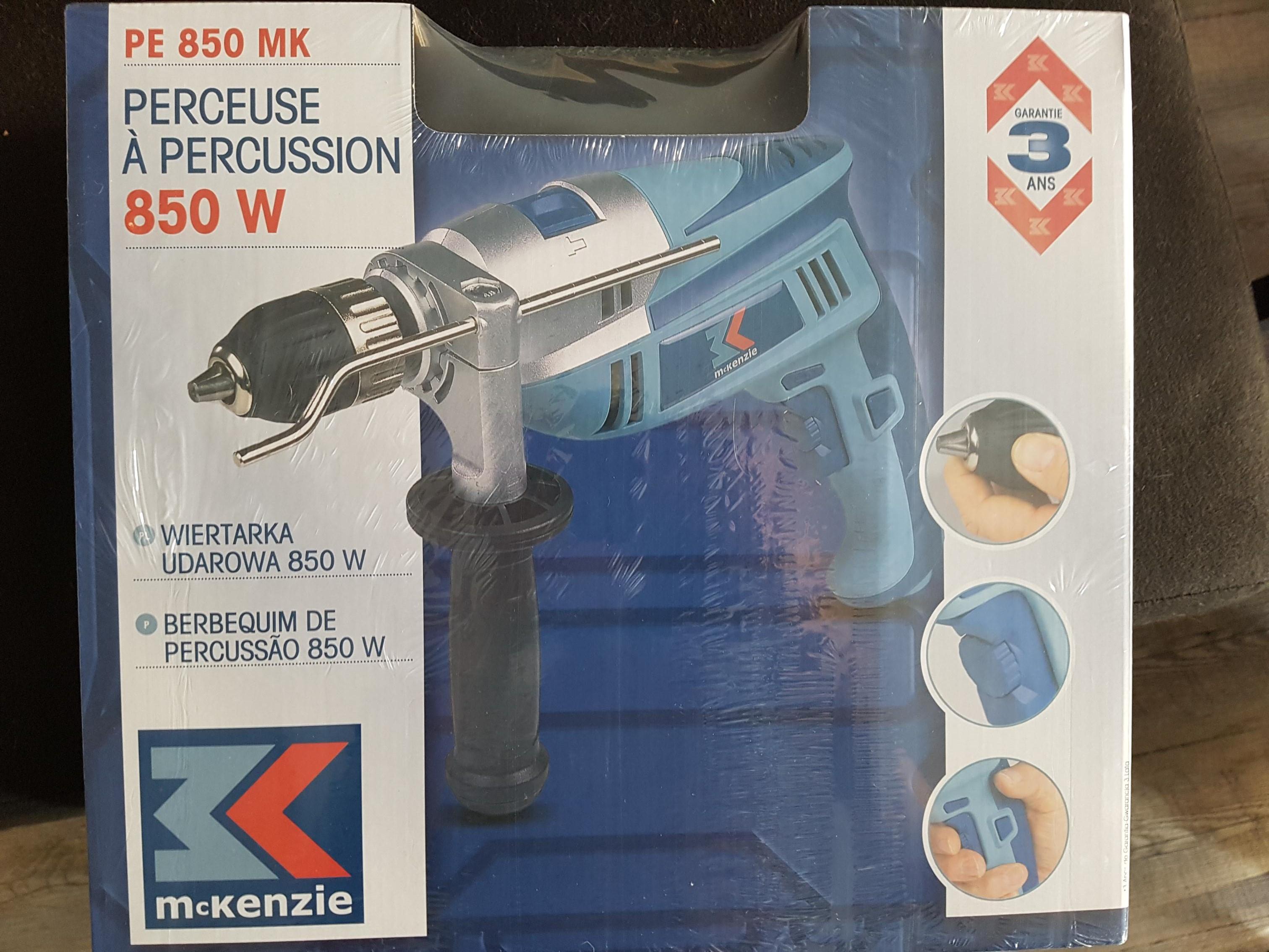 Perceuse visseuse à percussion McKenzie PE-850-MK - 850 W