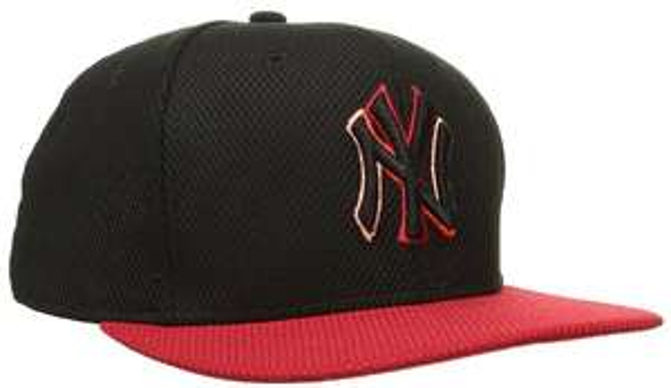 Casquette de Baseball New Era Noir / Rouge pour Hommes - Taille S/M