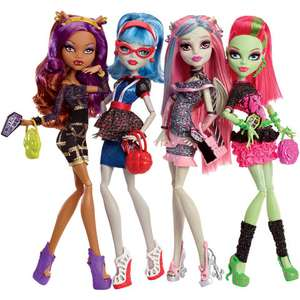 Coffret 4 poupées Monster High Ghouls Night Out