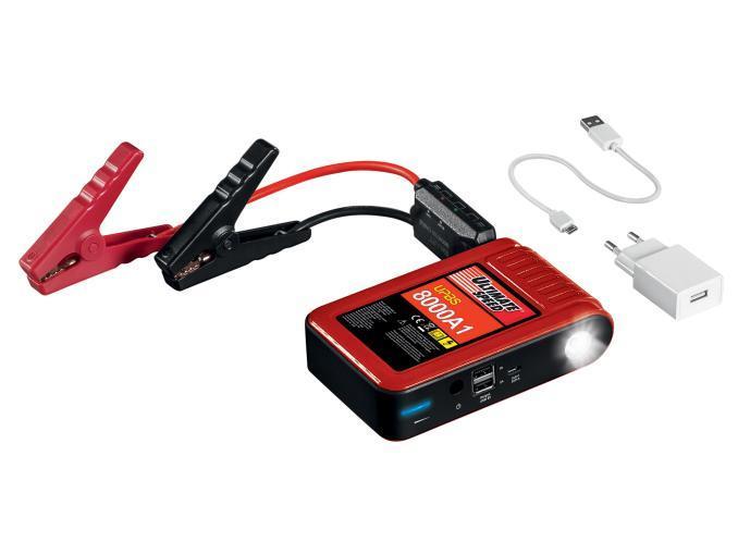 Kit de démarrage pour voiture avec batterie Powerbank Ultimate Speed UPBS 8000A1