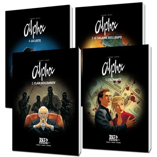 Pack des 4 premiers tomes d'une sélection de BD (Largo Winch, Alpha, IRS et Lady)