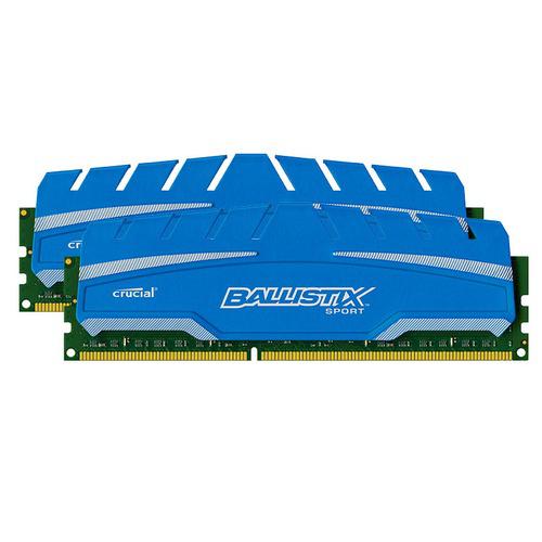 Mémoire Ram 16 Go DDR3 Crucial Ballistix Sport XT PC3-14900 CAS 10