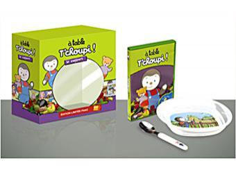 A table T'Choupi ! - Coffret DVD Inclus l'assiette, la fourchette et la cuillère en plastique