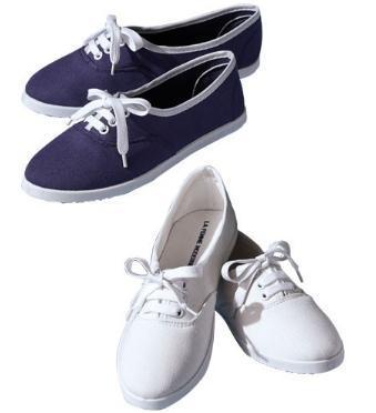 Lot de 2 paires de chaussures tennis - blanc & bleu (du 37 au 41) - frais de port inclus