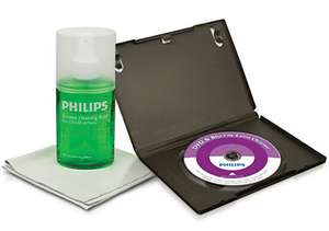 Kit de nettoyage LCD/LED/Plasma, DVD/Blu-ray... Philips SVC4255G/10 Gratuit (Port : 3.99€)