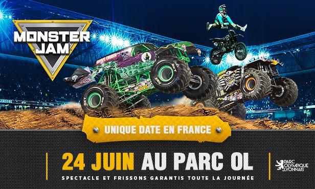 20% de réduction sur les billets de spectacle Monster Jam au Parc OL de Lyon - samedi 24 juin
