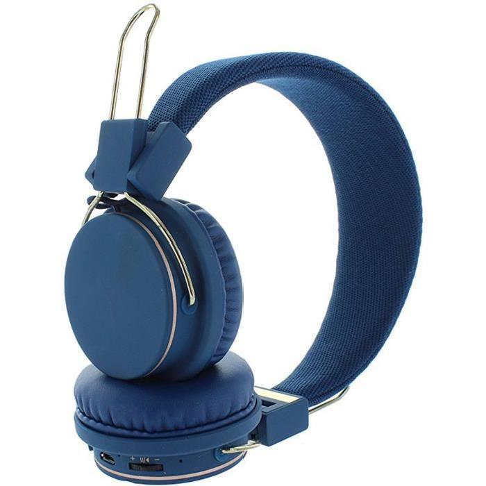 casque audio bluetooth ryght lumina bleu. Black Bedroom Furniture Sets. Home Design Ideas
