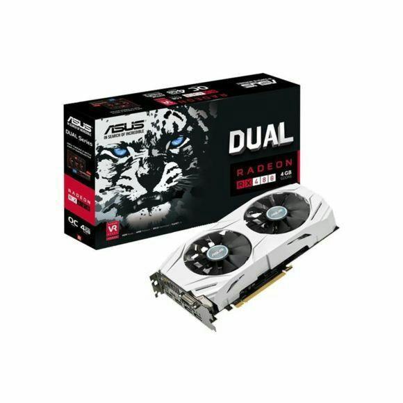 Carte graphique Asus Dual-RX 480 OC - 4 Go GDDR5 + Doom offert