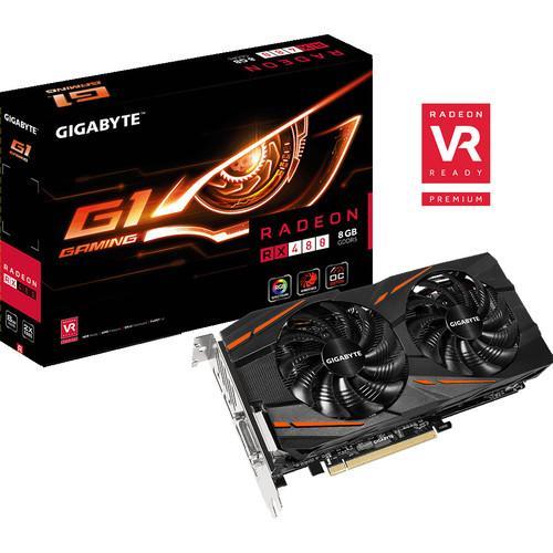 Carte graphique Gigabyte AMD RX 480 G1 Gaming - 8 Go DDR5 + Doom offert