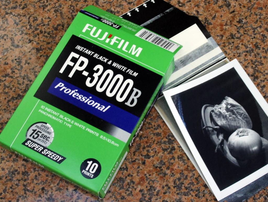 Fujifilm FP-3000B B&W Films 5x10 poses pour Polaroid Pack100