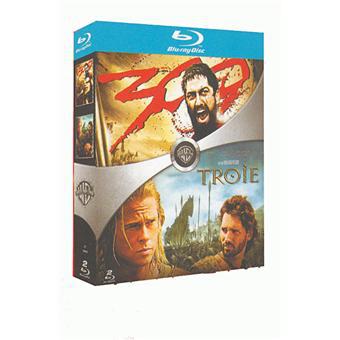 Coffret Blu-ray 300 + Troie ou Constantine + Matrix ou 10 000 + 300