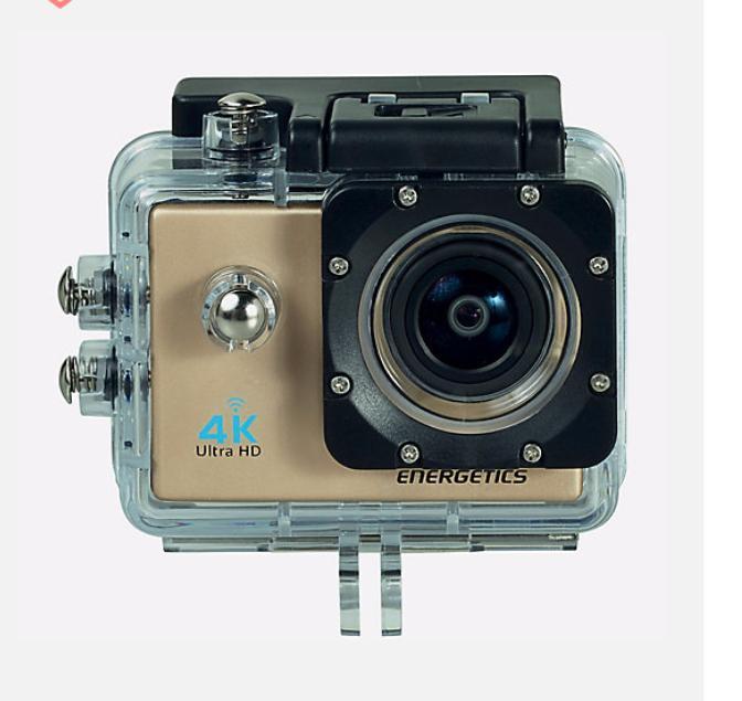 Caméra  sportive Energetics - 4K, WiFi + Fixation ajustable pour vélo