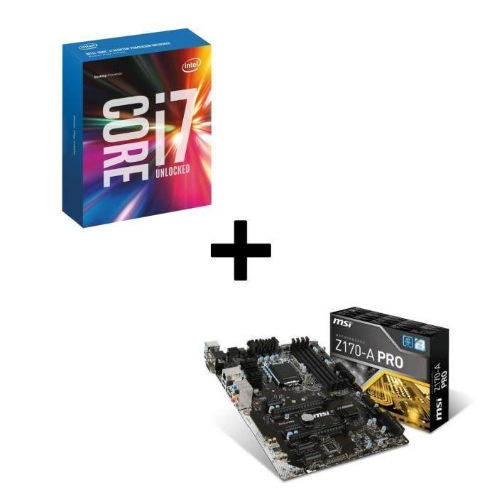 kit d 39 volution processeur intel skylake core i7 6700k. Black Bedroom Furniture Sets. Home Design Ideas