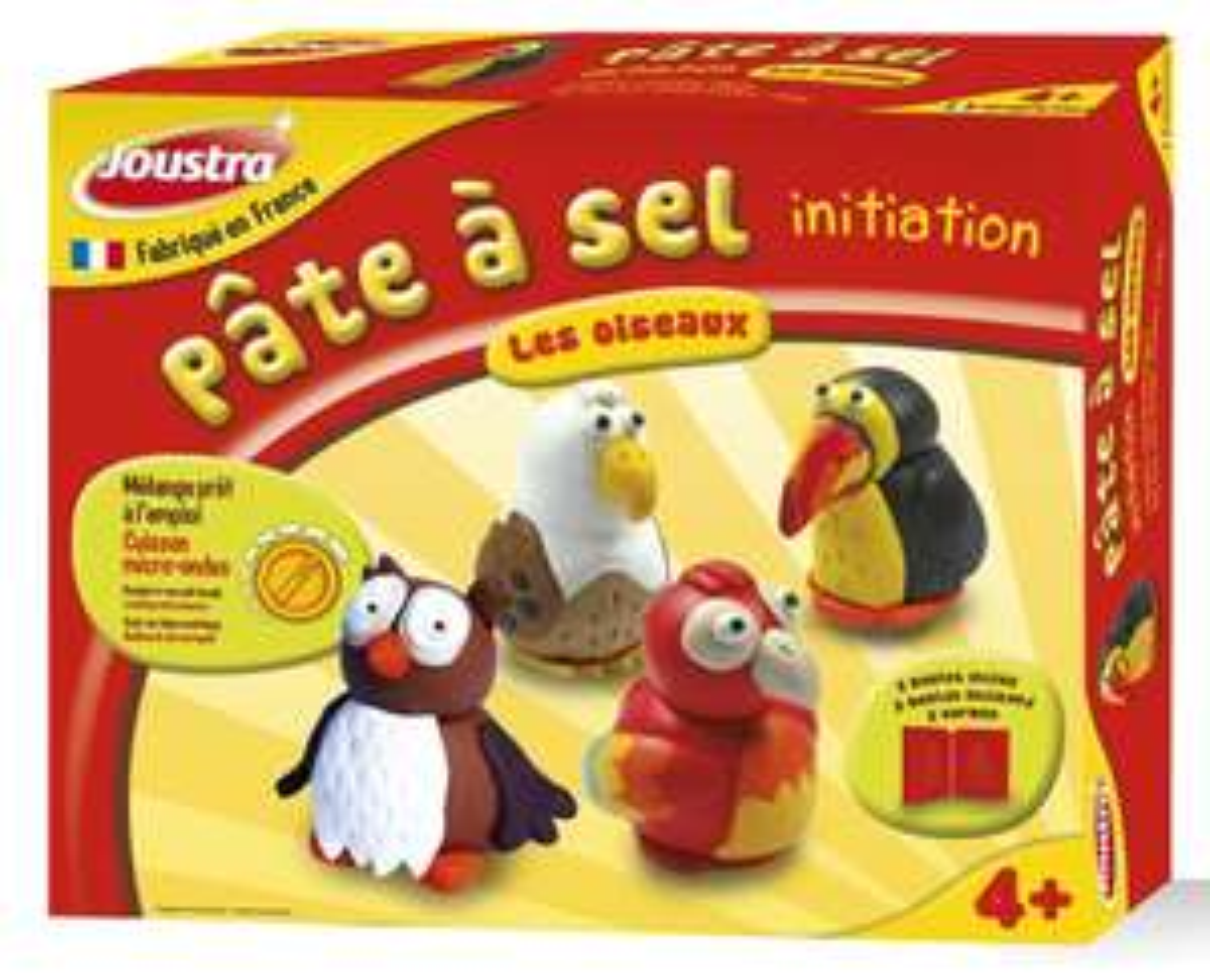 Kit loisir créatif Joustra pâte à sel thème les oiseaux