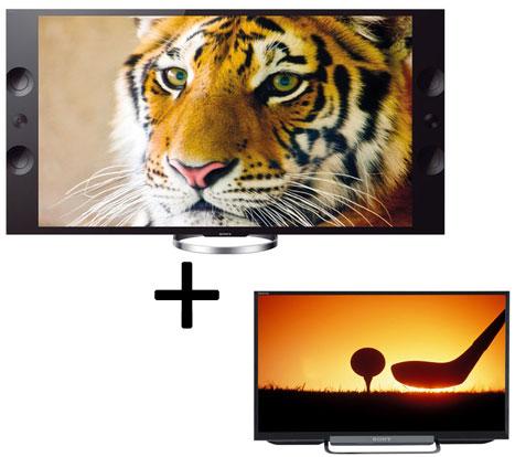 """Pack de 2 télévisions : Sony KD-55x9005 55"""" + 24w605 24"""" + 10 blu-ray offerts (avec ODR 500€)"""