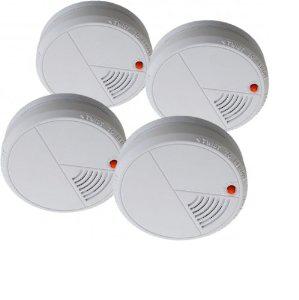 Lot de 4 détecteurs de fumée optique Flamingo FA20/4