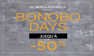 Jusqu'à -50% avec les Bonobo Days Homme / Femme