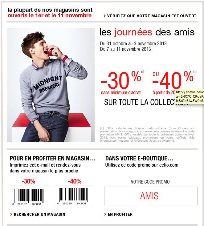 30% sans minimum ou - 40% dès 200€ d'achats