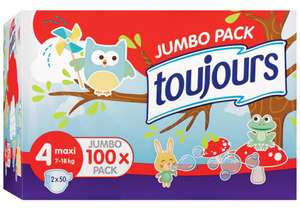 Pack de 100 couches Toujours Jumbo Pack Taille 4