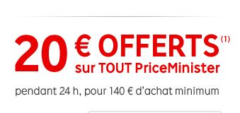 20€ de réduction dès 140€ d'achats