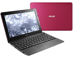 "Netbook 10,1"" Asus 1015E - Celeron 847 1.1 GHz Dual-core, 2 Go RAM, 320 Go, Windows 8 (Capot rose)"