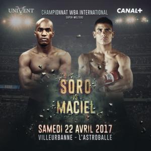 Billet gratuit pour le match de boxe WBA International Soro / Maciel - samedi 22 avril, à Villeurbanne