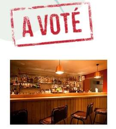 Premier verre offert sur présentation d'une carte d'électeur tamponnée
