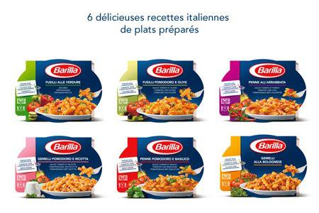 2,50 € de réduction immédiate sur l'achat simultané de 2 plats préparés Barilla au choix