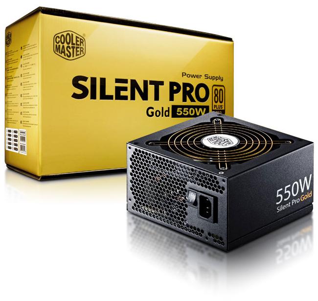 Alimentation Cooler Master Silent Pro Gold, 550W