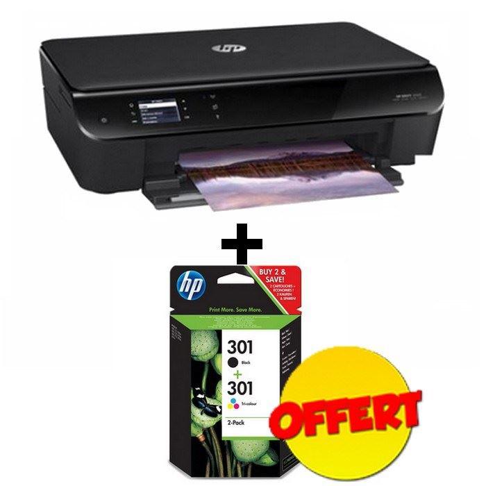 Imprimante jet d'encre HP Envy 4502 + Cartouches d'encre