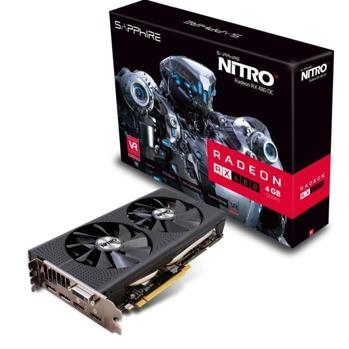 [Cdiscount à volonté] Carte Graphique Sapphire AMD Nitro Radeon RX 480 - 4 Go, GDDR5