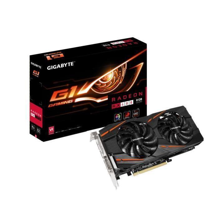 [Cdiscount à volonté] Carte graphique Gigabyte AMD Radeon RX 480 G1 Gaming - 8 Go, GDDR5