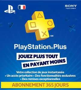 Playstation Plus LiveCards - Abonnement 1an