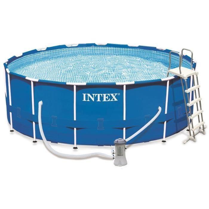 Kit piscine tubulaire ronde Intex - 457 cm