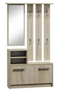 meuble d 39 entr e ambre miroir porte manteaux range. Black Bedroom Furniture Sets. Home Design Ideas
