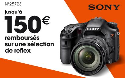 Jusqu'à 150€ d'ODR sur la gamme Reflex Sony Alpha 77