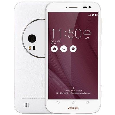 """Smartphone 5.5"""" Asus ZenFone Zoom ZX551ML - 64Go, 4Go RAM, Blanc (avec B20)"""