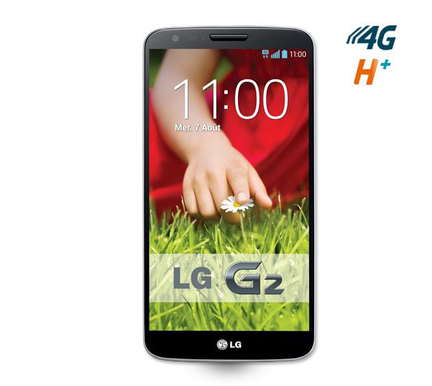 Smartphone LG G2 Noir 16 Go avec forfait 4G à 29.90€/mois pendant 2 ans (Avec ODR de 50€)